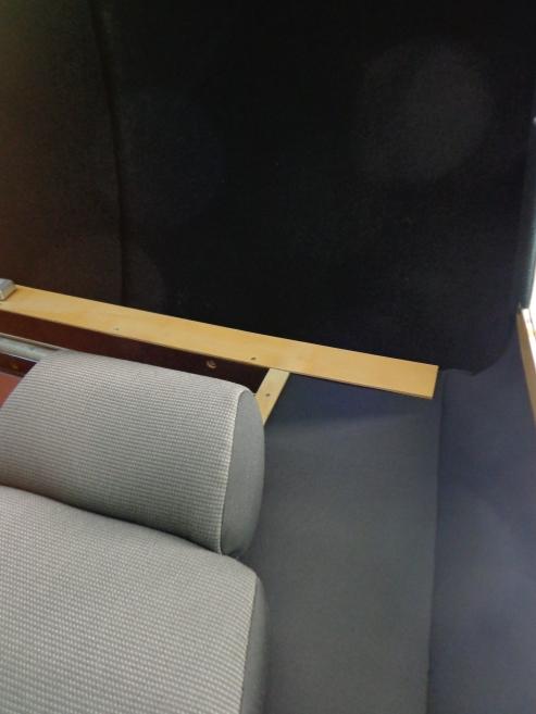 Himmel, Rückwand und Fahrersitz